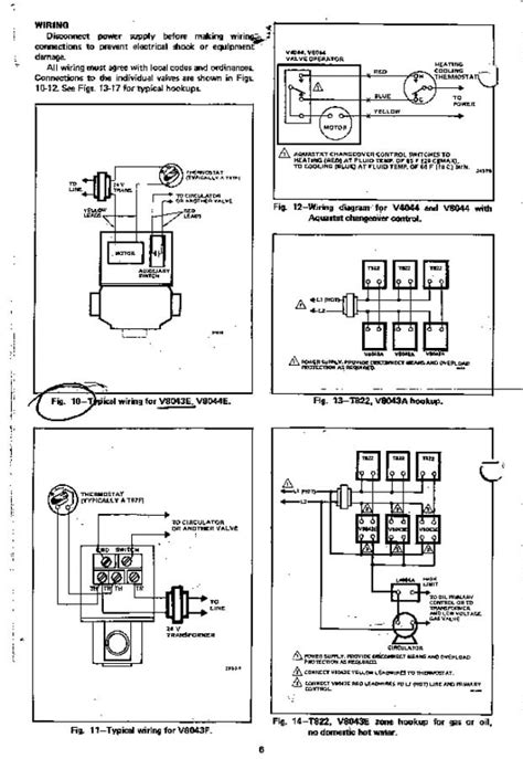 wiring diagram honeywell 3 port zone valve honeywell