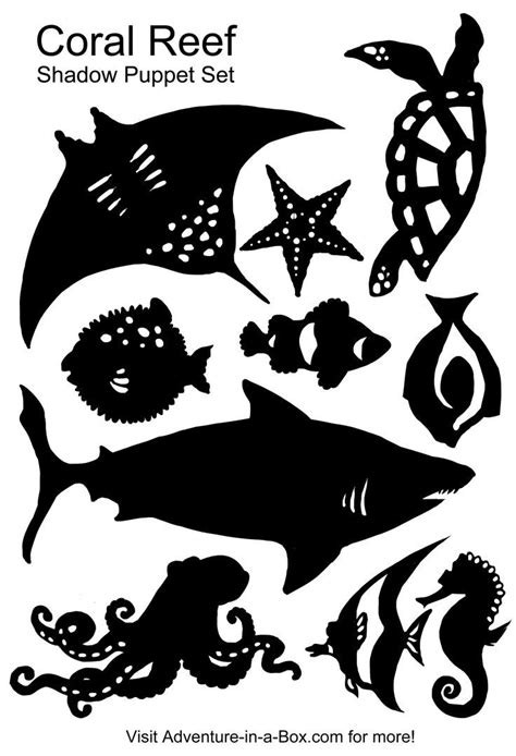 shadow puppet templates free jpg shadow puppet templates turtle shark octopus