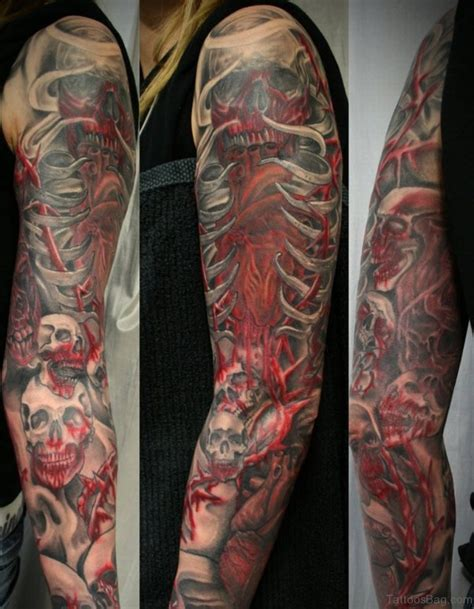 red skull tattoo 67 classic skull tattoos for sleeve