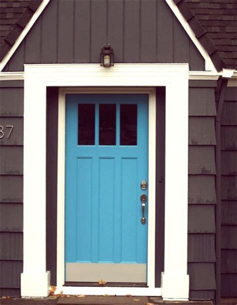 blue house with door sensational color combos chocolate brown house