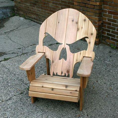 Skull Adirondack Chair Plans by Wooden Skull Chair Gadgets News Newslocker