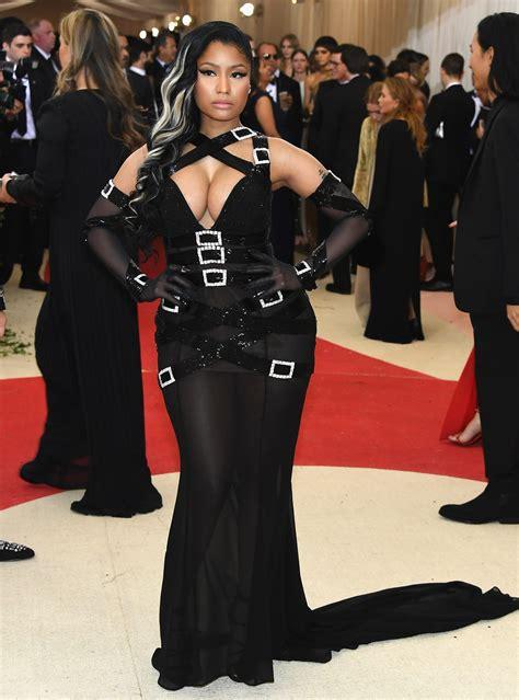 Awards Galas Crowd Pre Globes Weekend by Nicki Minaj Wears Buckled Moschino To Met Gala 2016 Go