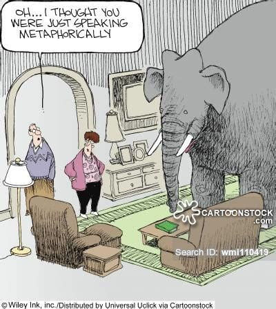 elephant in the room metaphor elephant in the room and comics pictures from cartoonstock