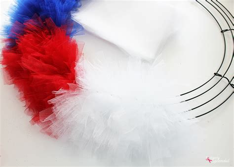 How To Make A Tulle by Patriotic Tulle Wreath Craft Tutorial For July