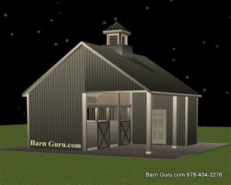 Two Stall Horse Barn Barn Plans 2 Stall Horse Barn Design Floor Plan