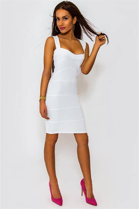 Bodycon White Dress white bodycon dress from the fashion bible uk