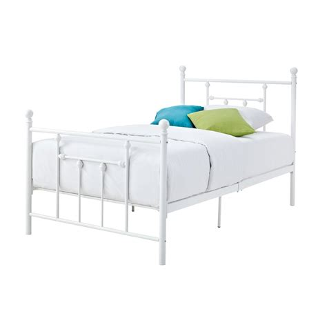 Metal And Footboard by Size White Metal Platform Bed With Headboard And