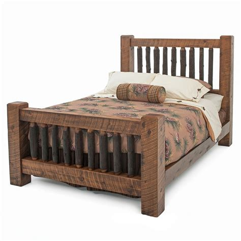timber bed frame rustic sawn timber frame bed