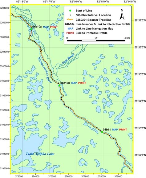 Printable Area C | area c map archive of digital boomer seismic reflection
