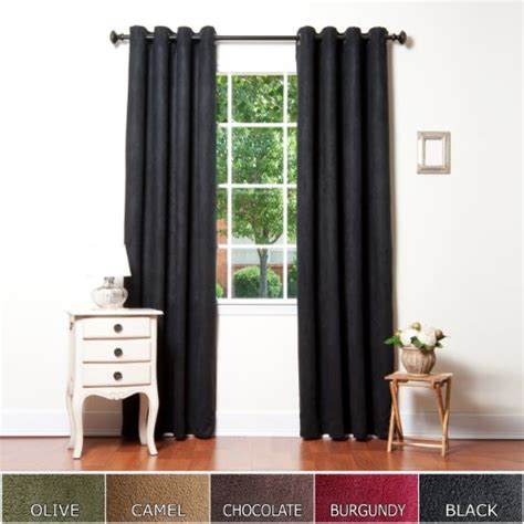 cheap grommet curtain panels cheap curtains black faux suede grommet top insulated