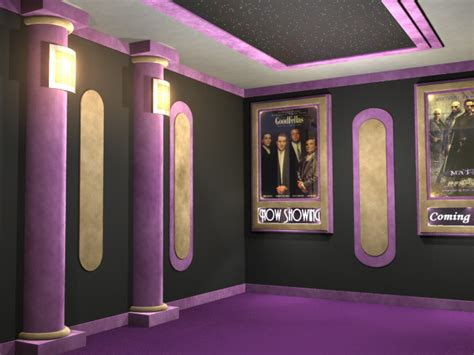 home movie theatre decor classic home theater column