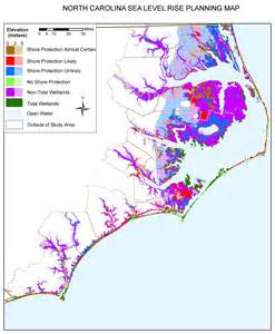 carolina shoreline map sea level rise planning maps