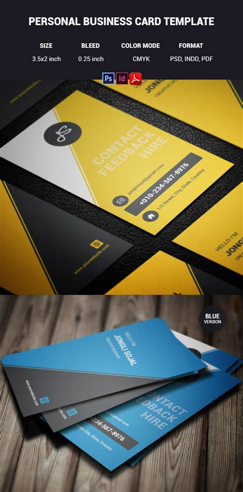 personal business card templates psd 15 premium business card templates in photoshop