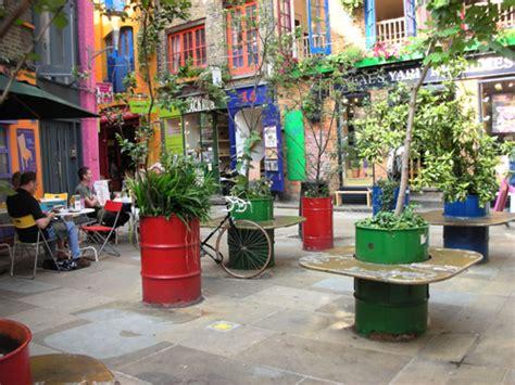 bench covent garden industrial wasteland garden neal s yard london pith