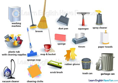cleaning supplies vocabulary