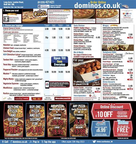 domino pizza voucher deals on dominos pizza uk