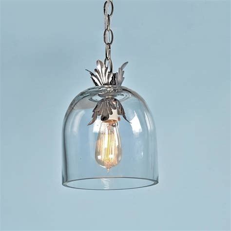 Glass Dome Pendant Light Acanthus And Clear Glass Dome Pendant Light Pendant Lighting By Shades Of Light