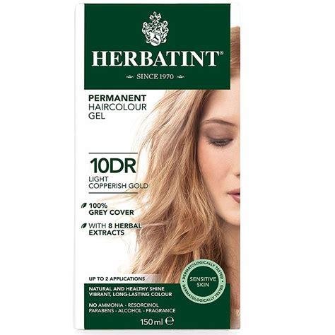 herbatint hair color herbatint hair colour copperish range 9dr 10dr the