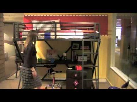Space Bedroom Ideas powell z bedroom full size study loft bunk bed youtube