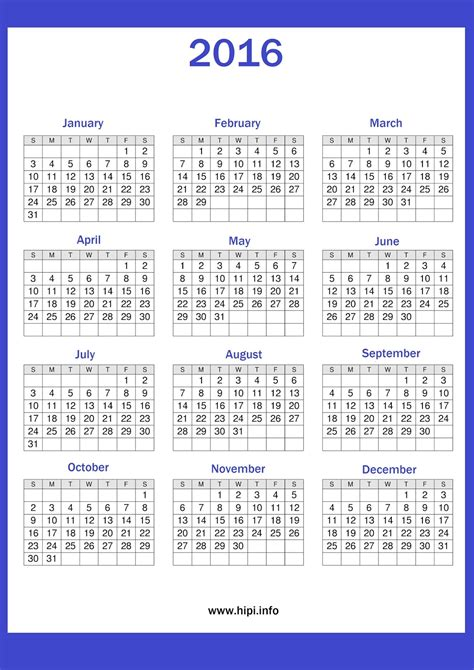 2016 calendar printable free twitter headers facebook covers wallpapers calendars