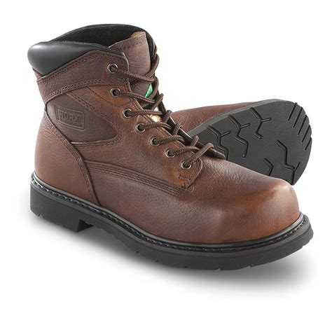 s worx 6 quot steel toe puncture resistant work boots
