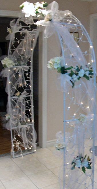idea to decorate the arch   Ideas   Wedding columns