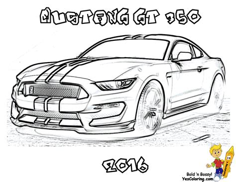 coloring pictures mustang cars image gallery outline of ford cars