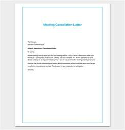 Letter Cancelling Meeting Sample Appointment Cancellation Letter 10 Samples Examples