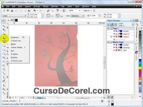corel draw x4 como usar como funciona el b spline de corel draw x5 curso video