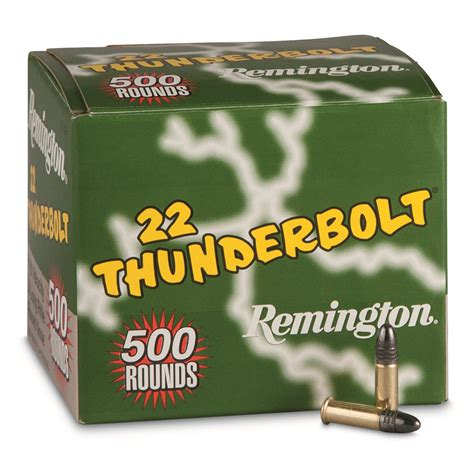Remington Thunderbolt 22 Ammo | remington thunderbolt ammunition 22lr 40 grain lrn 500