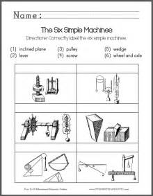 identify simple machines free printable worksheet elementary science