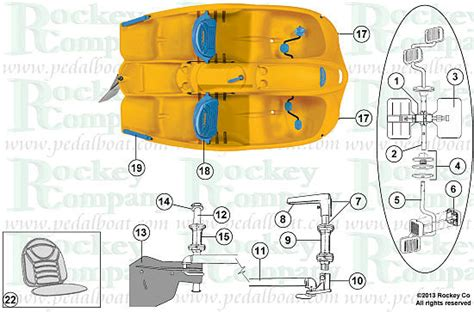 pelican sunkiss boat parts from www pedalboat