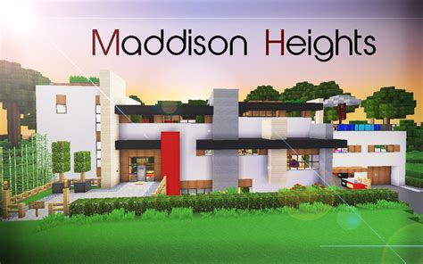 Front Elevation For House de stijl 1 maddison heights mansion minecraft project