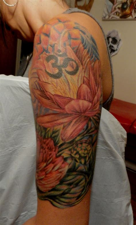 half sleeve tattoo flower designs lotus flower half sleeve tattoos i done
