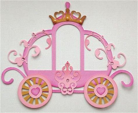 princess carriage template premade princess carriage paper piecing by my tear bears