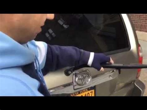 how to replace toyota 4runner rear wiper youtube
