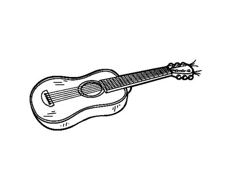 imagenes de guitarras rockeras para colorear coloriage de une guitare acoustique pour colorier