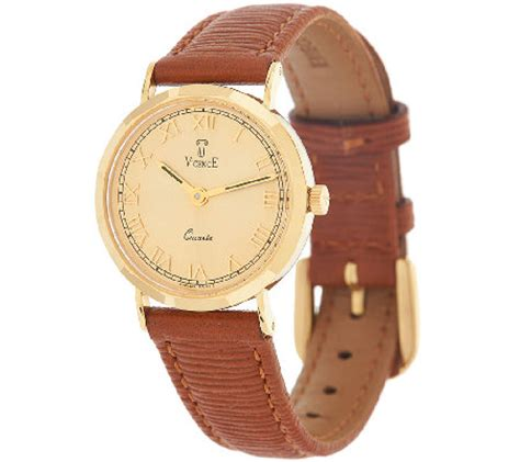 vicence leather 18k gold qvc