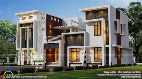 contemporary home designs june 2017 kerala home design and floor plans