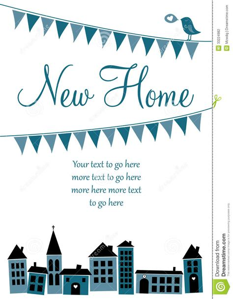 moving home cards template new home card stock vector image of home sale moving