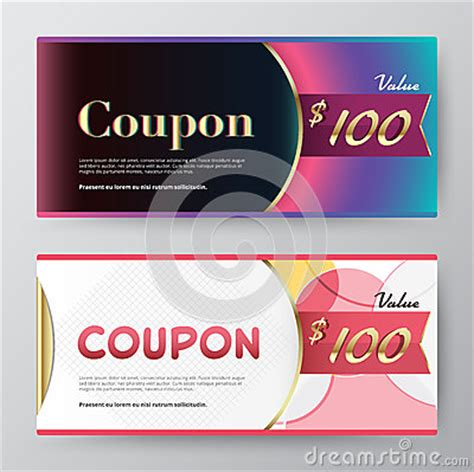 promotional cards templates coupon card template promotion card vector stock stock