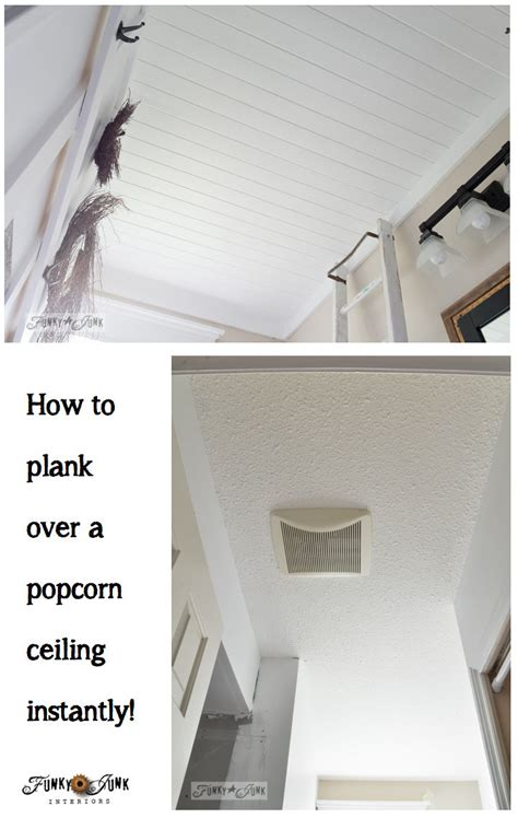 how do i if my popcorn ceiling has asbestos how to plank a bathroom ceilingfunky junk interiors