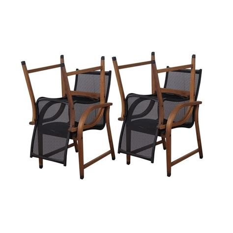 Bahamas Chairs by Bahamas 4 Pc Armchair Set In Eucalyptus Wood Sc 4manha