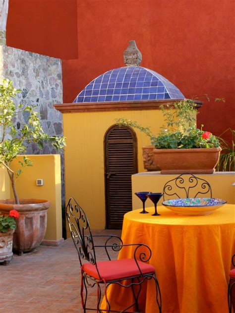 spanish inspired home decor 10 spanish inspired outdoor spaces hgtv