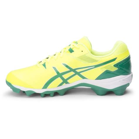 grass shoes asics gel lethal touch pro 6 mens turf shoes neon