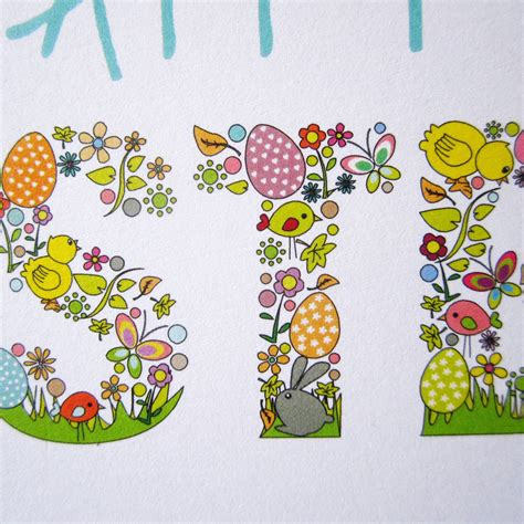 easter card happy easter card by mrs l cards notonthehighstreet