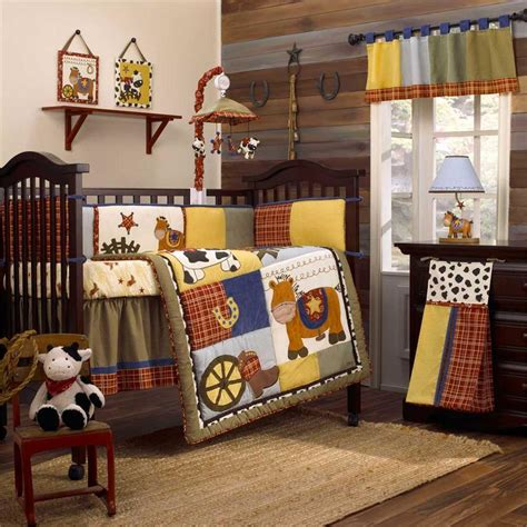 Western Baby Bedding Round Em Up Baby Crib Bedding Set Western Baby Bedding