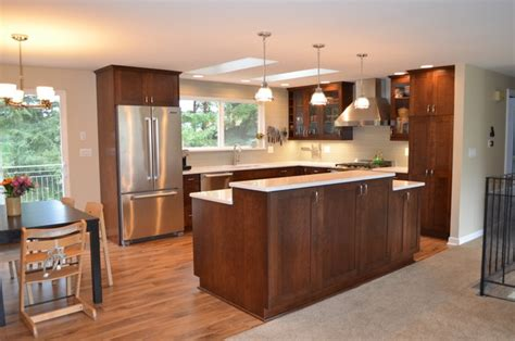 Kitchen Designs For Split Level Homes Bothell Split Level Home Kitchen Remodel Transitional