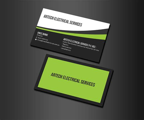 h d electric inc home business card free vector download