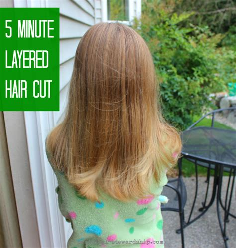 diy ponytail haircut for medium length hair my easy diy 5 minute layered haircut practical stewardship